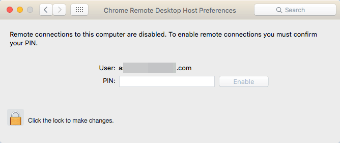 remote connections disabled mac